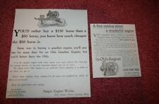 2  OLD Awesome 1910 era Seager Stationary Engine Ads