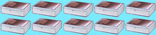 10 ULTRA PRO 50 COUNT CLEAR HINGED CARD STORAGE BOX Case Holder Sports Trading