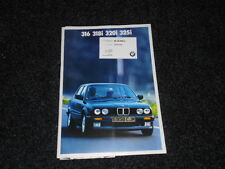 BMW 3 SERIES- 316, 318i, 320i AND 325i SALES BROCHURE 1987 1988 + PRICES/SPECS.