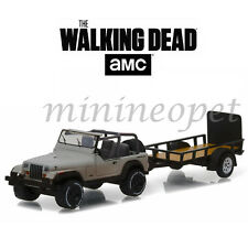 GREENLIGHT 32080 B THE WAKING DEAD MICHONNE'S JEEP WRANGLER YJ AND TRAILER 1/64