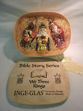 WE THREE KINGS Bible Story Series - Inge-Glas Boxed Glass Ornament Set