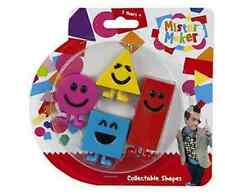 Official CBeebies Mister Mr Maker Collectable Shapes Toys 4 Figures in Pack Gift