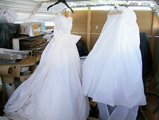 Tomasina Custom Made Silk & Satin Wedding Dress w/ Custom Made Taffeta Size  4