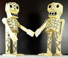 "DAY OF THE DEAD SKELETON 9.5"" TALL STRIKING WHITE AND BLACK-UNIQUE"