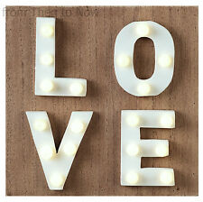 LOVE LED Light Up Wooden Plaque Wall Sign Chic Shabby Rustic Box Lamp Valentine