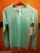 Lululemon Swiftly Tech LS Crew Heathered Menthol 6 or 8 2014 Release