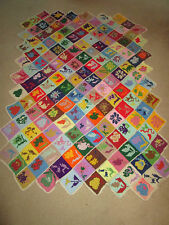 VNTG HAND CROCHET GRANNY SQUARE WOOL AFGHAN BLANKET QUILT 54X80