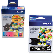 4 Brother LC 75 High Yield XL Genuine Ink Cartridges For MFC-J625DW MFC-J5910DW