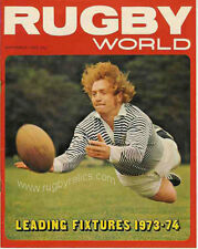 RUGBY WORLD MAGAZINE SEPTEMBER 1973 - PERFECT GIFT FOR A FAN BORN IN THIS MONTH