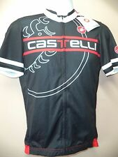 AUTHENTIC CASTELLI NWT MEN'S SEGNO JERSEY-LARGE-BLACK/RED/WHITE-GREAT DEAL !!