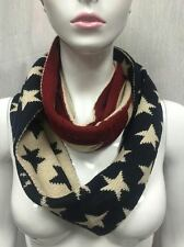 INFINITY STYLE SCARF KNITTED BULKY AMERICAN FLAG DESIGN