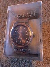Swatch SISTEM TUX Two-Tone Automatic Mens Watch YIS405G