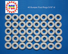 "Bally Bingo Bumper Post Ring - White 5/16"" id (Lot of 40 Rings)"