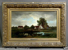 Rural Landscape Oil Painting signed Francois-Leonard Dupont (FRENCH, 1756-1821)