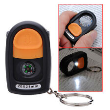 20X 21mm LED Light Jewelry Magnifier Magnifying Eye Glass Loupe &Compass&Keyring