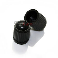 (2) Regular Black Plastic Tire/Wheel Stem Valve Caps for Motorcycle/Bike/Chopper