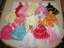 Lot of 6 Pretty Wedding Dresses Party Ball Gowns fit Barbie Dolls C2a mix