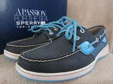 SPERRY Top Sider Bluefish Navy & Turquoise Loafer Boat Shoes US 8 M EUR 39 NWB
