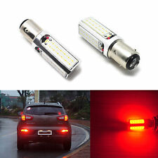 2pcs 1157 Red 4-Chip COB Car LED Brake Stop Lights 20W High Power 2057 2357 1004