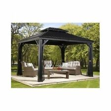 Sojag Messina 10 x 12 Galvanized-Steel-Roof Sun Shelter Mosquito Netting