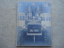 C1920S MORRIS FIRE ENGINE No BU-1921 OUTSIDE FIRE STATION LARGE PHOTOGRAPH
