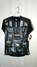 STAR WARS DARTH VADER MEN'S MEDIUM TEE WITH CAPE NEW WITH TAGS