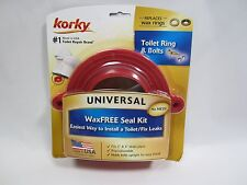 Free Ship, KORKY 6000BP Wax-Free Toilet Seal Kit, 6000BM, Made in U.S.A.