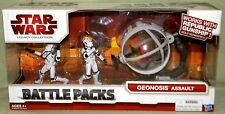 Star Wars Legacy GEONOSIS ASSAULT; 2 Clone Pilots and 1 Gunship Bubble-Turret