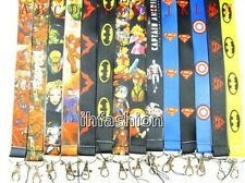 10pcs avengers batman superman mix Lanyard Mobile Phone ID Card KeyChain Holder