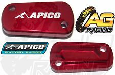 Apico Red Rear Brake Master Cylinder Cover For Suzuki RM 250 04-08 Motocross