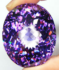 479,95CT. QUALITE DE COLLECTION AMETHYSTE ZIRCONIA CUBIQUE CZ T. OVALE CLOSE CUT