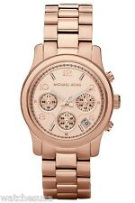 Michael Kors Runway Chronograph Rose Gold Stainless Steel Womens Watch MK5128