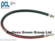 PCL WHIP HOSE 600mm 1/4 BSP MALE fitting - for Air line compressor tool PCL