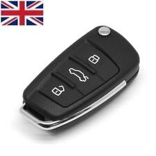 New 3 Button Remote Replacement Key CASE & Blank Blade for AUDI A3 A4 A6 Q7 TT