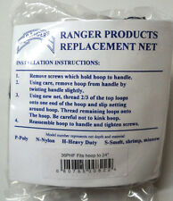 "Ranger Replacement Hook-Free Net, 36"" Depth, Fits hoop to 24"",1-1/4"" Mesh #36PHF"