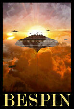 Star Wars Bespin Retro Travel Poster Movie Poster Print, 13x19