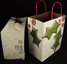 Highpoint Packaging Holiday 4 Gift Bag Set, HBAG0689 Holly Leaves, Free Shipping