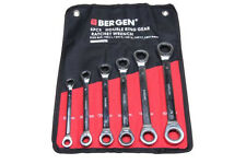 Bergen 6 Pc Doble Anillo Spanner Set 8-19mm llaves de trinquete de 72 dientes B1894