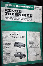Revue technique automobile Renault 12 TR-TS n° ND