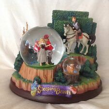 RARE Disney Sleeping Beauty ONCE UPON A DREAM Spin Figurine Musical SnowGlobe