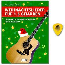 Weihnachtslieder für 1-3 Gitarren mit Dunlop Plektrum - EH1074 - 9783866260412