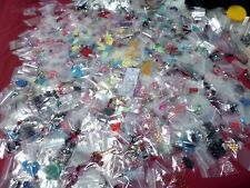 35 Bags Mix Beads Charms Gemstone Metal Findings CLEARANCE JEWELRY MAKING LOTS