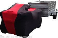 Super Suave estiramiento elástico interior motorbike/quadbike/trike cubierta Rojo Y Negro