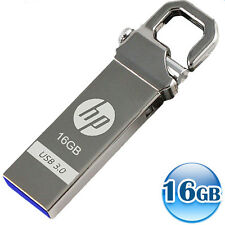 HP USB 3.0 16GB 16G LOCK HOOK Flash Pen Thumb Key Drive Data Memory Stick Metal