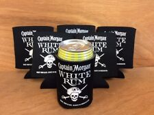 Captain Morgan White Rum Beer Koozies Can Cooler Coozie - New - 6 Pk - Free Ship