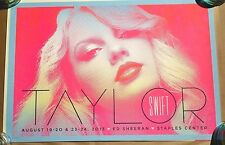 Taylor Swift Concert Poster Signed Kii Arens 2013 Staples Center Los Angeles CA