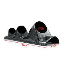 "Carbon Side Car 2"" 52mm Universal Three Hole DashBoard Gauge Pod Holder"