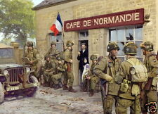 Easy Company 101st Airborne Cafe Normandie Carentan  photo print D-Day #2