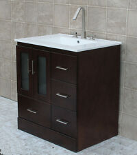 "30"" Bathroom Vanity Cabinet Ceramic Top with Integrated Sink Faucet  MCT"