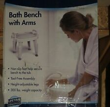 Medline Bath / Shower Safety Bench with Arms in Box - New with defects